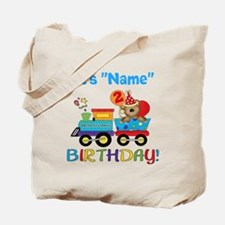 2nd Birthday Bear Train Tote Bag