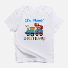 2nd Birthday Bear Train Infant T-Shirt