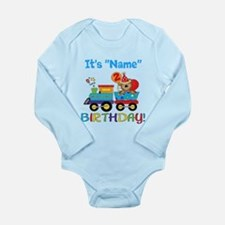 2nd Birthday Bear Train Long Sleeve Infant Bodysui