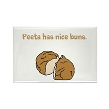 Peeta has nice buns w/bread Rectangle Magnet