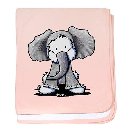Westie Elephant baby blanket