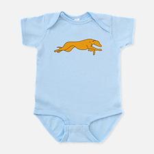 Greyhound Outline multi color Infant Bodysuit