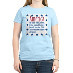 America: Count All the Votes! Women's Pink T-Shirt