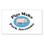 Pigs Make Pork Awesome Sticker (Rectangle 10 pk)