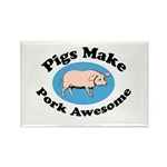 Pigs Make Pork Awesome Rectangle Magnet (100 pack)