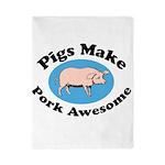 Pigs Make Pork Awesome Twin Duvet