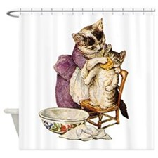 Miss Moppet Gets a Bath Shower Curtain
