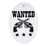 WANTED Ornament (Oval)