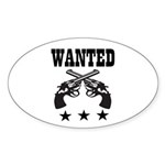 WANTED Sticker (Oval 50 pk)