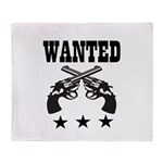 WANTED Throw Blanket