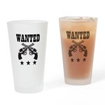 WANTED Drinking Glass