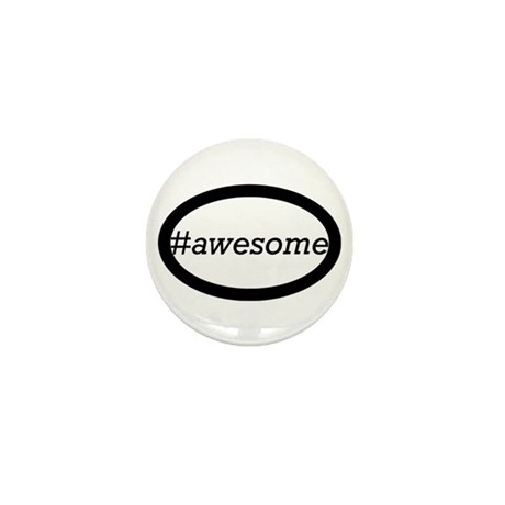 #awesome Mini Button (10 pack)