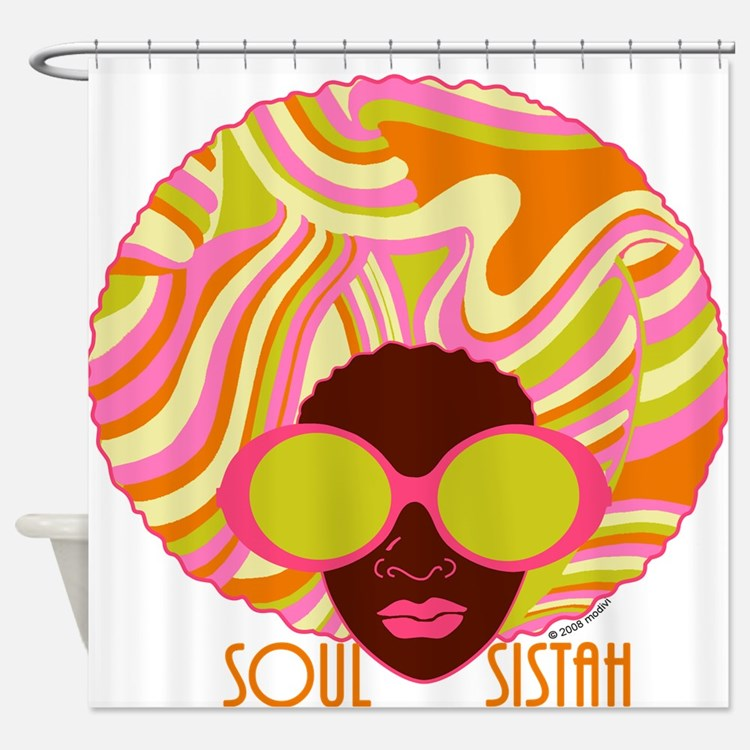 Afrocentric Shower Curtains   Afrocentric Fabric Shower Curtain Liner