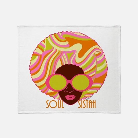Soul Sistah Brown Throw Blanket