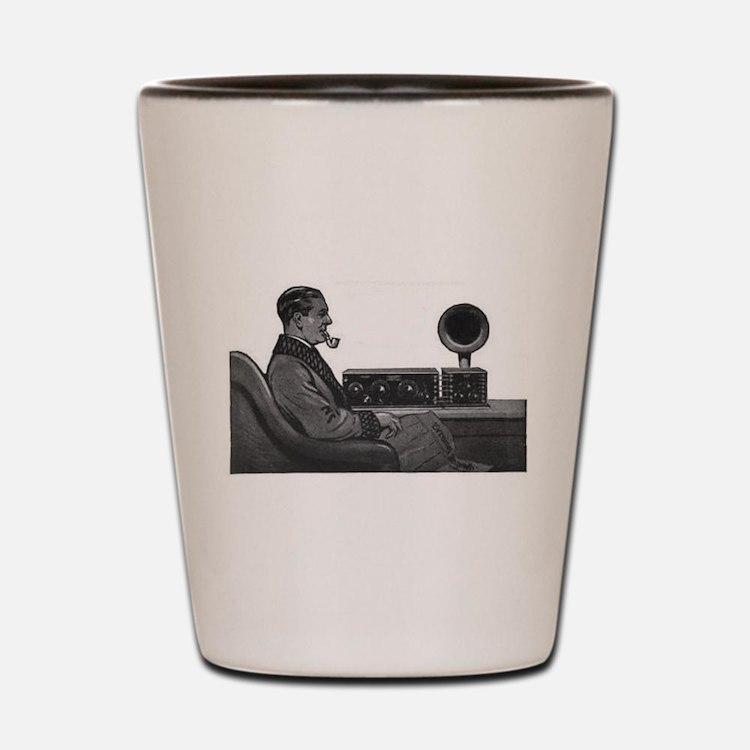 Old Time Radio Listener Shot Glass
