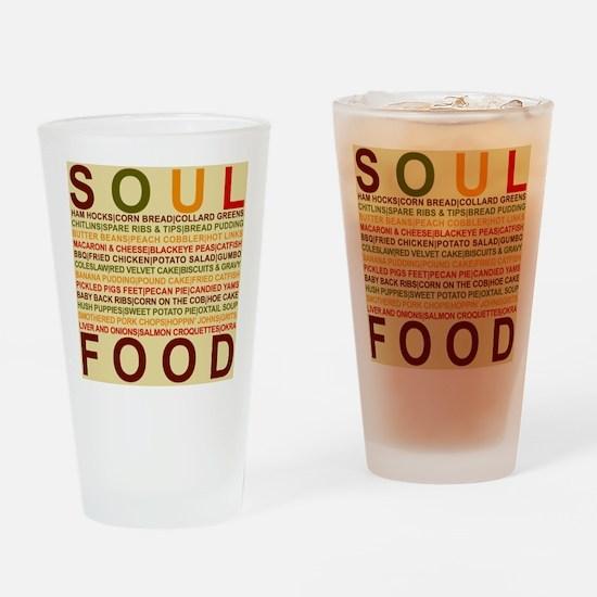 Soul Food List Drinking Glass