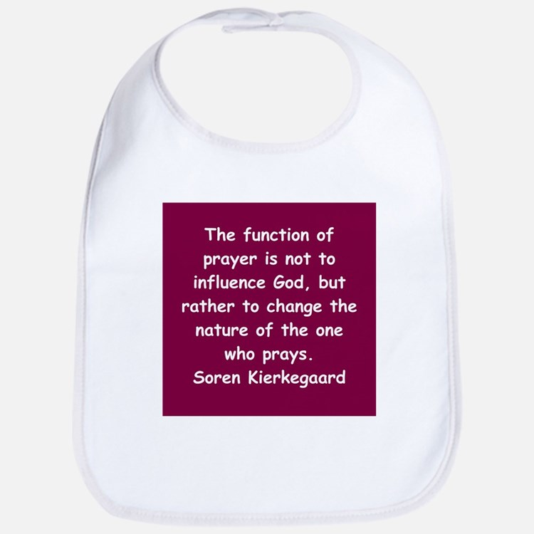 Cute Soren kierkegaard quotation Bib