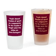 kierkegaard Drinking Glass