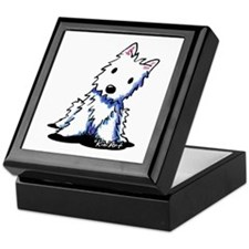 Vintage KiniArt Westie Keepsake Box