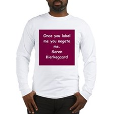 kierkegaard Long Sleeve T-Shirt