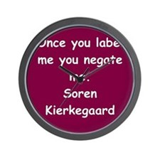 kierkegaard Wall Clock