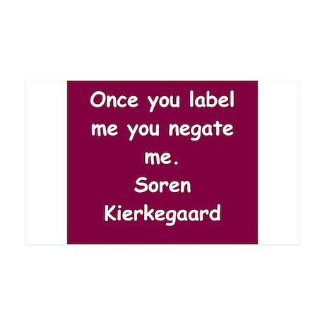 kierkegaard 38.5 x 24.5 Wall Peel