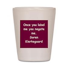 kierkegaard Shot Glass