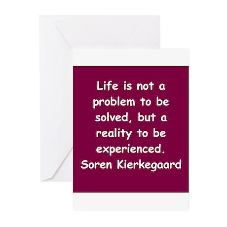 kierkegaard Greeting Cards (Pk of 20)