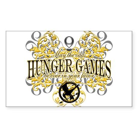 Hunger Games Sticker (Rectangle 10 pk)
