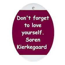 kierkegaard Ornament (Oval)