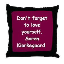 kierkegaard Throw Pillow