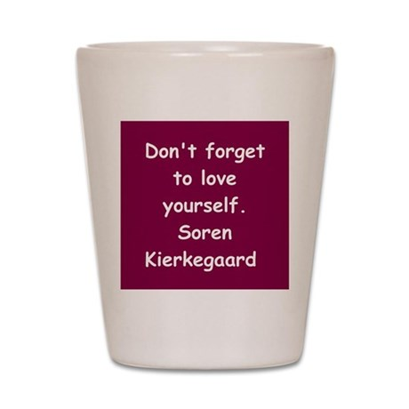 kierkegaard Shot Glass