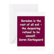 kierkegaard Greeting Card