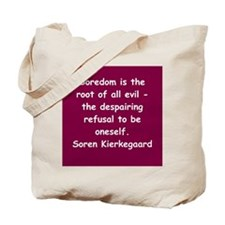 kierkegaard Tote Bag