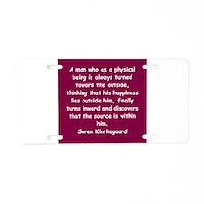 kierkegaard Aluminum License Plate