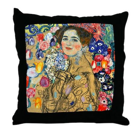 Klimt - Ria Munk Throw Pillow