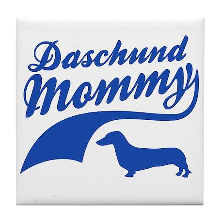 Daschund Mommy Tile Coaster