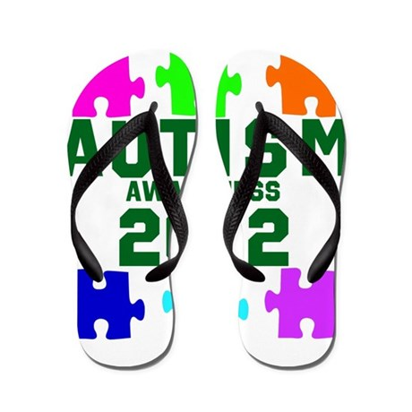 Autism Awareness 2012 Flip Flops
