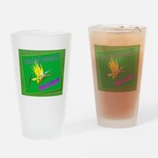 Trophical Bird of Paradise ~ Drinking Glass