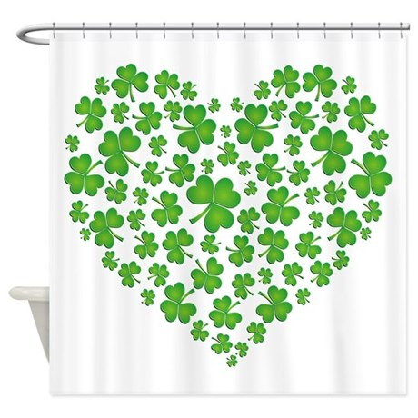 Irish Heart Shower Curtain
