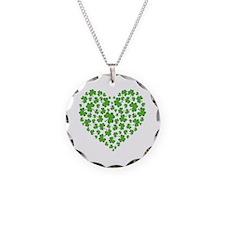 Irish Heart Necklace Circle Charm