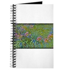 Monet Painting, Agapanthus Flowers, Journal