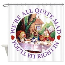 Cute Mad tea party Shower Curtain