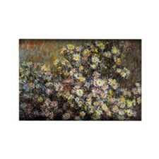 Monet Painting, Asters,1880, Rectangle Magnet
