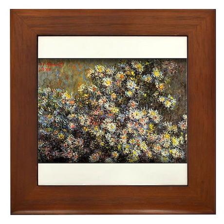 Monet Painting, Asters,1880, Framed Tile