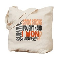 Survivor 4 Uterine Cancer Tote Bag
