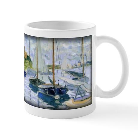 Barques au repos, au Petit-Gennevilliers, Monet, M