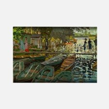 Bathers at La Grenouillere, Monet, Rectangle Magne