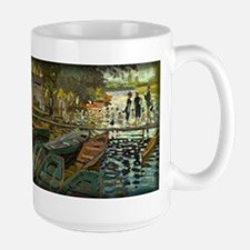 Bathers at La Grenouillere, Monet, Large Mug