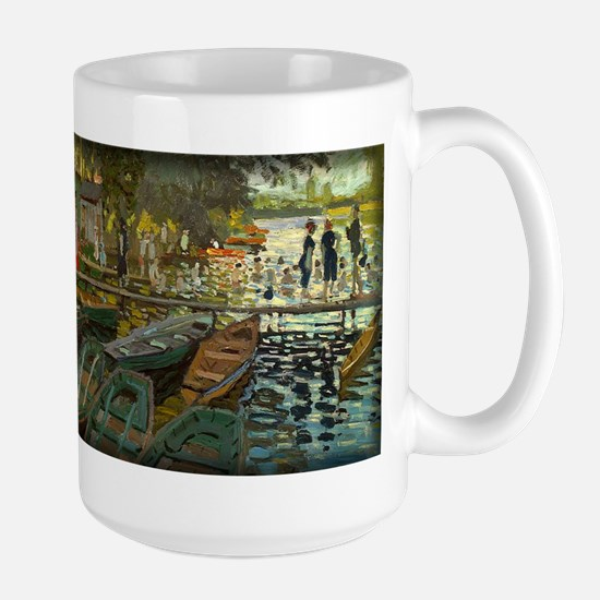Bathers at La Grenouillere, Monet, Large Mug